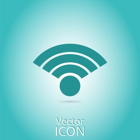 wireless network: Icono de red inal�mbrica del vector. Estilo plano. Made in vector