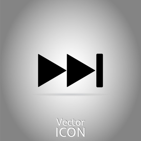 rewind: Rewind icon. Media player. Flat style.