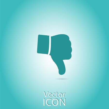 Vector hand with thumb down icon. Vector