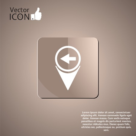 Map pointer with directional arrow. Made in vector Vector