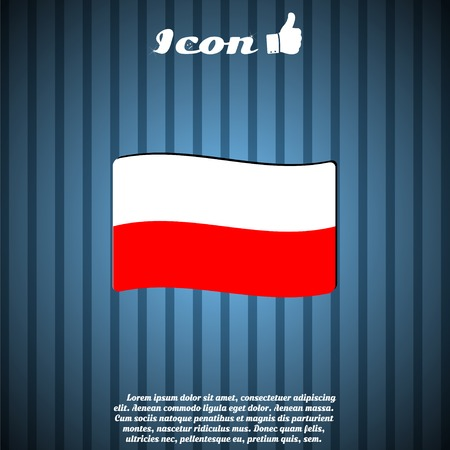 symbolize: Poland flag. Made in vector