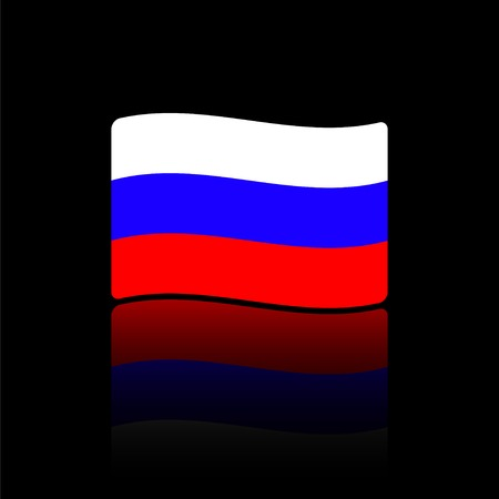 russian flag: Russian flag. Made in vector