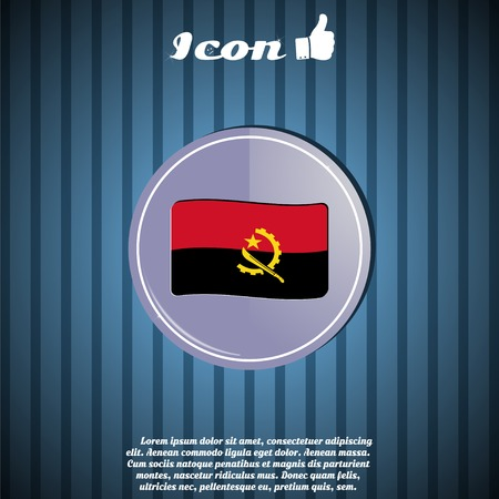 machete: Angola flag on the background. Made in vector