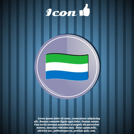 Flag of Sierra Leone on the background. Made in vector Vector