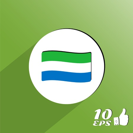 sierra: Flag of Sierra Leone on the background. Made in vector Illustration