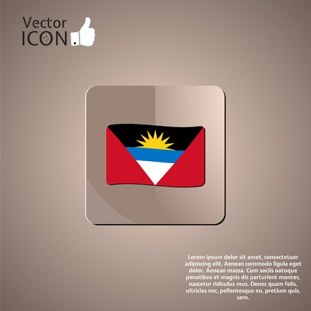 barbuda: Flag of Antigua and Barbuda on the background. Made in vector Illustration