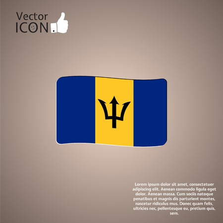 antilles: Flag of Barbados on the background. Made in vector
