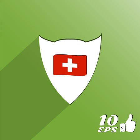 Flag of Switzerland. Flat style. Made in vector Vector