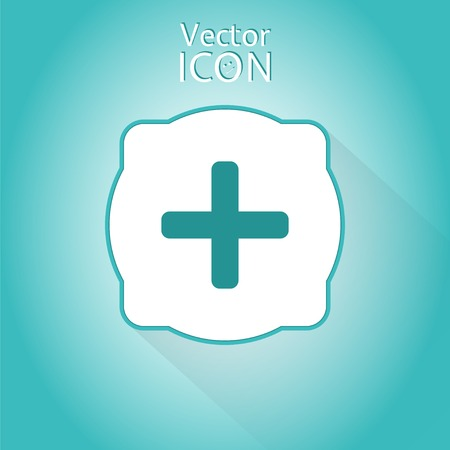 Plus icon. Flat style. Made in vector Vector