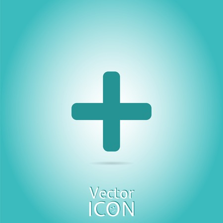 plus icon: Plus icon. Flat style. Made in vector