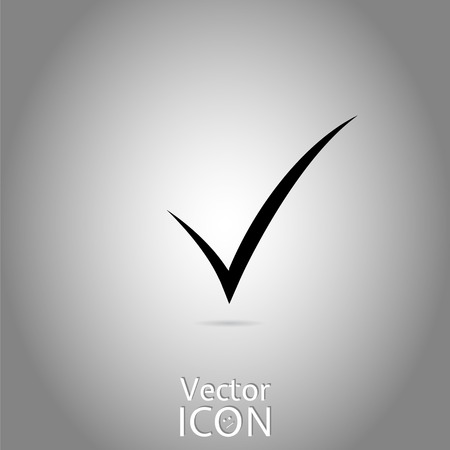 Check mark. Flat style. Made in vector Vector