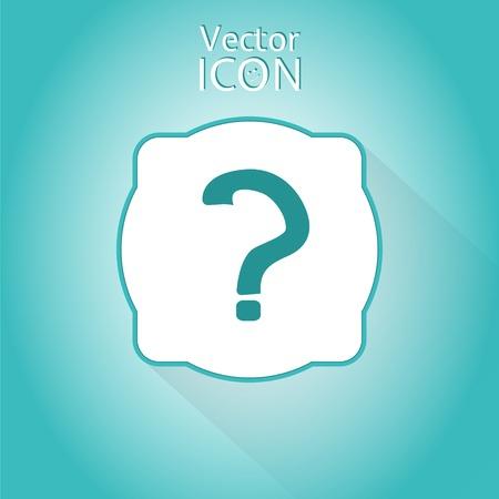 Question mark. Flat style. Made in vector Vector