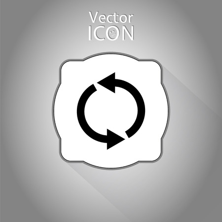 Loading and buffering icon. Flat style. Made in vector Vector