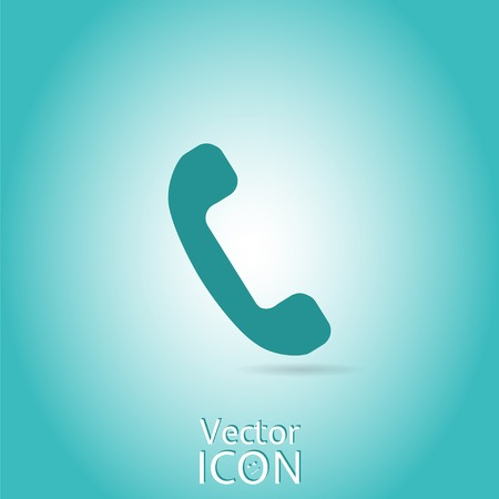 Call button. Phone icon. Handset icon. Flat style. Made in vector
