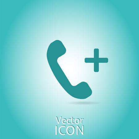 Call button. Phone icon. Handset icon.