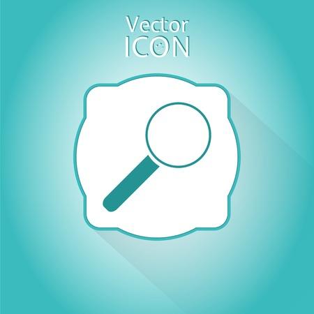 zoom in: Icono de acercar web. Estilo Flat. Made in vector