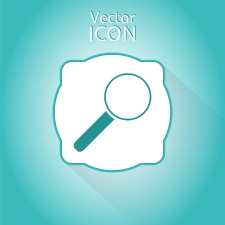 zoom in: Zoom in web icon. Flat style. Made in vector Illustration