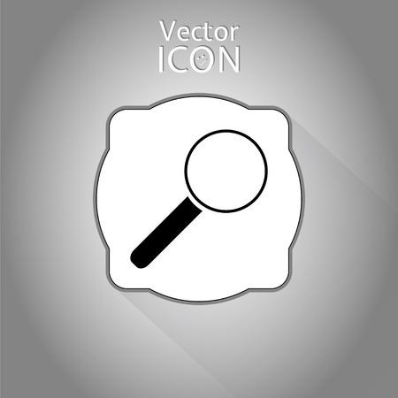zoom in: Zoom in icono de la web. Estilo plano. Made in vector