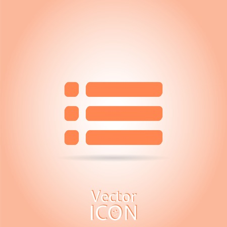 web portal: Web site menu icon. Flat style. Made in vector