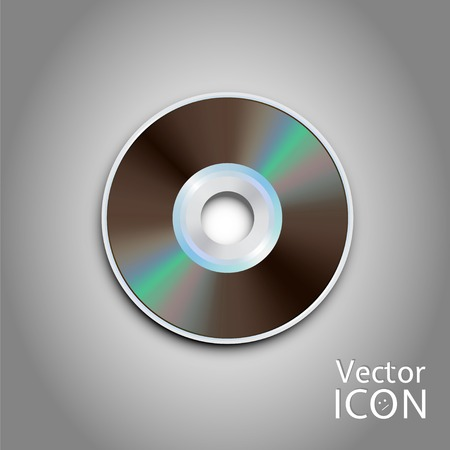 cd rom: DVD and CD disc. Computer disks. Realistic image. Made in vector illustration Illustration