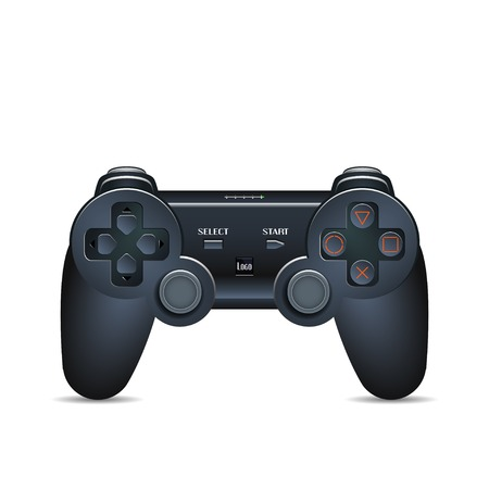 Gamepad Joystick. Joystick game console. Realistic image. Made in vector illustration