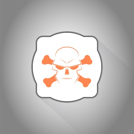 Icon skull and crossbones - a mark of the danger warning. Made in vector Vector
