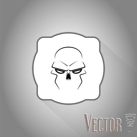 Skull - a mark of the danger warning. Made in vector
