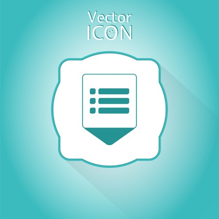 web portal: Map pointer - web site menu icon. Flat design style. Made in vector illustration