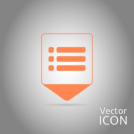 site map: Map pointer - web site menu icon. Flat design style. Made in vector illustration