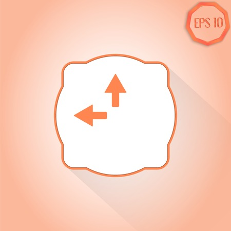 groupware: Two arrows. Direction sign to the left and right. Flat design style. Made in vector Illustration