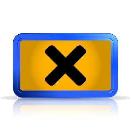 specular: Cancelar icono. Aislado en el fondo blanco. La reflexi�n especular. Ilustraci�n vectorial Hecho