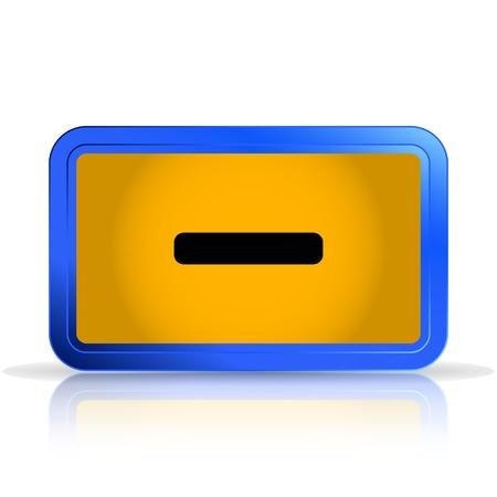 specular: Icono de signo menos. Aislado en el fondo blanco. La reflexi�n especular. Ilustraci�n vectorial Hecho Vectores