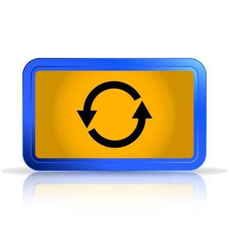 specular: La carga y el icono de amortiguaci�n. La reflexi�n especular. Aislado en el fondo blanco. Ilustraci�n vectorial Hecho Vectores