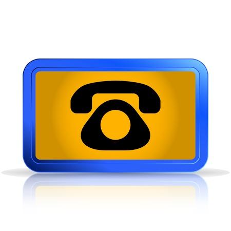specular: Icono de tel�fono. Aislado en el fondo blanco. La reflexi�n especular. Ilustraci�n vectorial Hecho