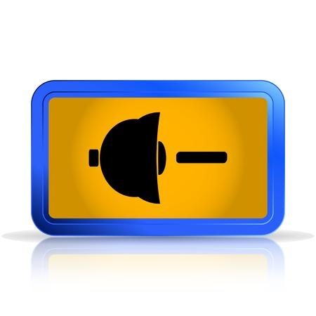 specular: Altavoz icono de la muestra bajo volumen. Aislado en el fondo blanco. La reflexi�n especular. Ilustraci�n vectorial Hecho