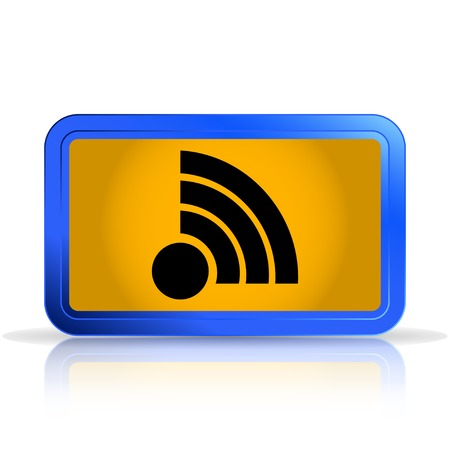 specular: Wireless Network Icon. Isolated on white background. Specular reflection. Made vector illustration