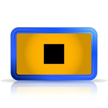 specular: Deje de icono. Reproductor de medios. Aislado en el fondo blanco. La reflexi�n especular. Ilustraci�n vectorial Hecho Vectores