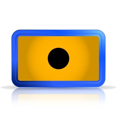 specular: Grabaci�n icono. Reproductor de medios. Aislado en el fondo blanco. La reflexi�n especular. Ilustraci�n vectorial Hecho Vectores