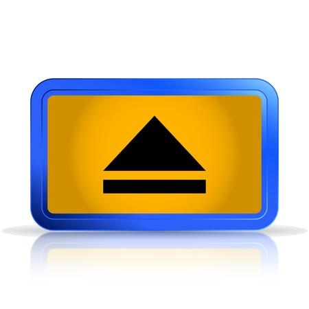 specular: Bot�n del reproductor multimedia. Aislado en el fondo blanco. La reflexi�n especular. Ilustraci�n vectorial Hecho Vectores