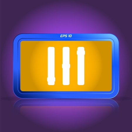 specular: Volume control. Level icon. Specular reflection. Made vector illustration Illustration