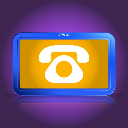 specular: Icon phone. Specular reflection. Made vector illustration