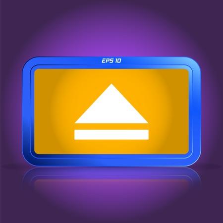 specular: Media player button. Specular reflection. Made vector illustration Illustration