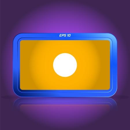 specular: Grabaci�n icono. Reproductor de medios. La reflexi�n especular. Ilustraci�n vectorial Hecho