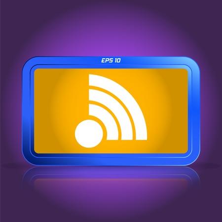 wireless network: Icono de red inal�mbrica. La reflexi�n especular. Ilustraci�n vectorial Hecho