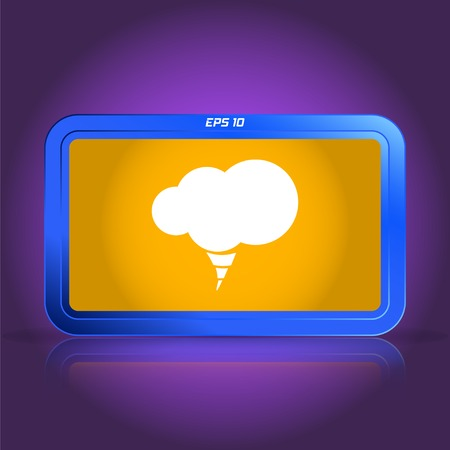 specular: Icono de la nube. La reflexi�n especular. Ilustraci�n vectorial Hecho Vectores