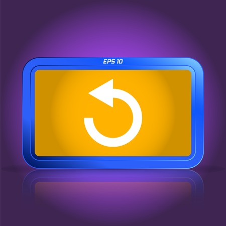 specular: Loading and buffering icon. Specular reflection. Made vector illustration