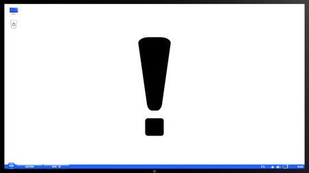 portable failure: Attention icon on the screen monitor. Made vector illustration Illustration