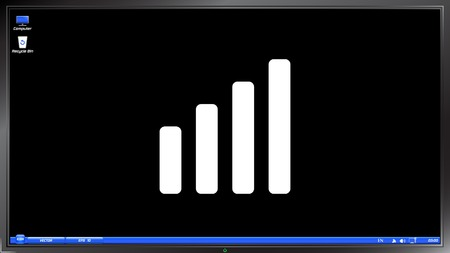 indicators: Signal strength indicators on the screen monitor. Made vector illustration