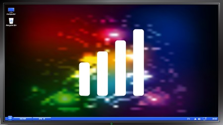 Signal strength indicators on the screen monitor. Made vector illustration Vector