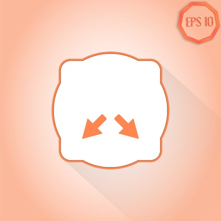 Two arrows. Direction sign. Flat design style. Made in vector Vector